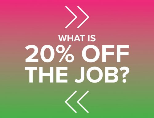What is 20% off the job?